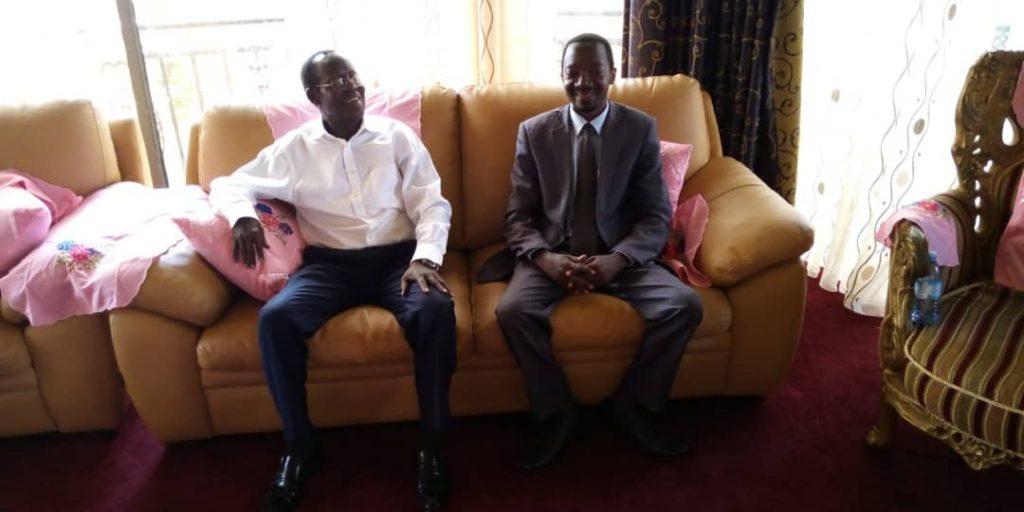 Vice President of South Sudan H.E General James Wani IGGA Meet Luzindana Adam Buyinza CEO of Public Opinions International
