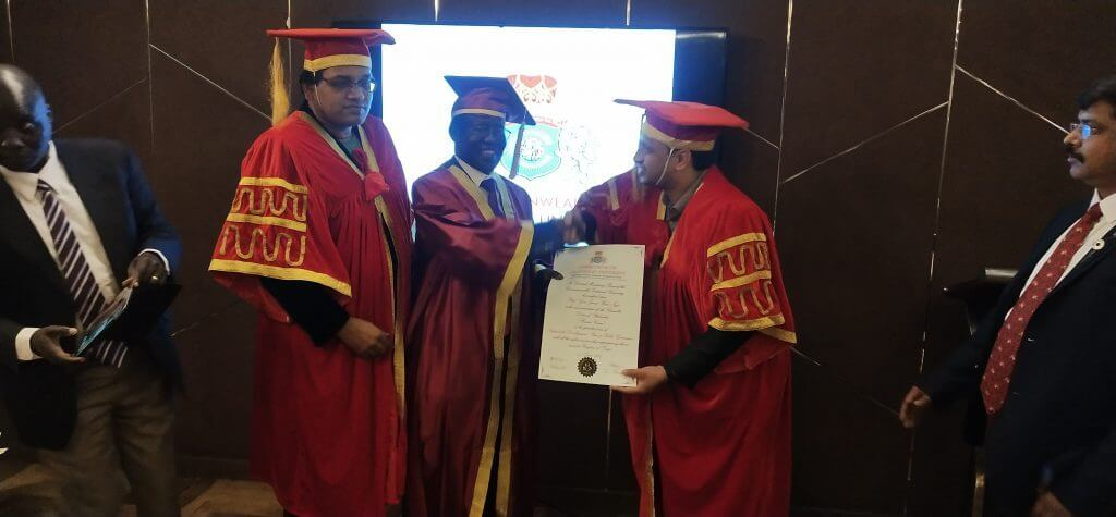 IGGA Conferred HONY Doctorate by CVU Tonga