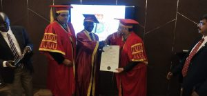 IGGA Conferred HONY Doctorate by CVU Tonga